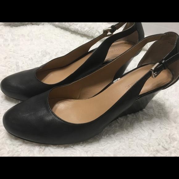 518152692d8 Kelly   Katie Shoes - Kelly   Katie Black leather Wedge Heel ...